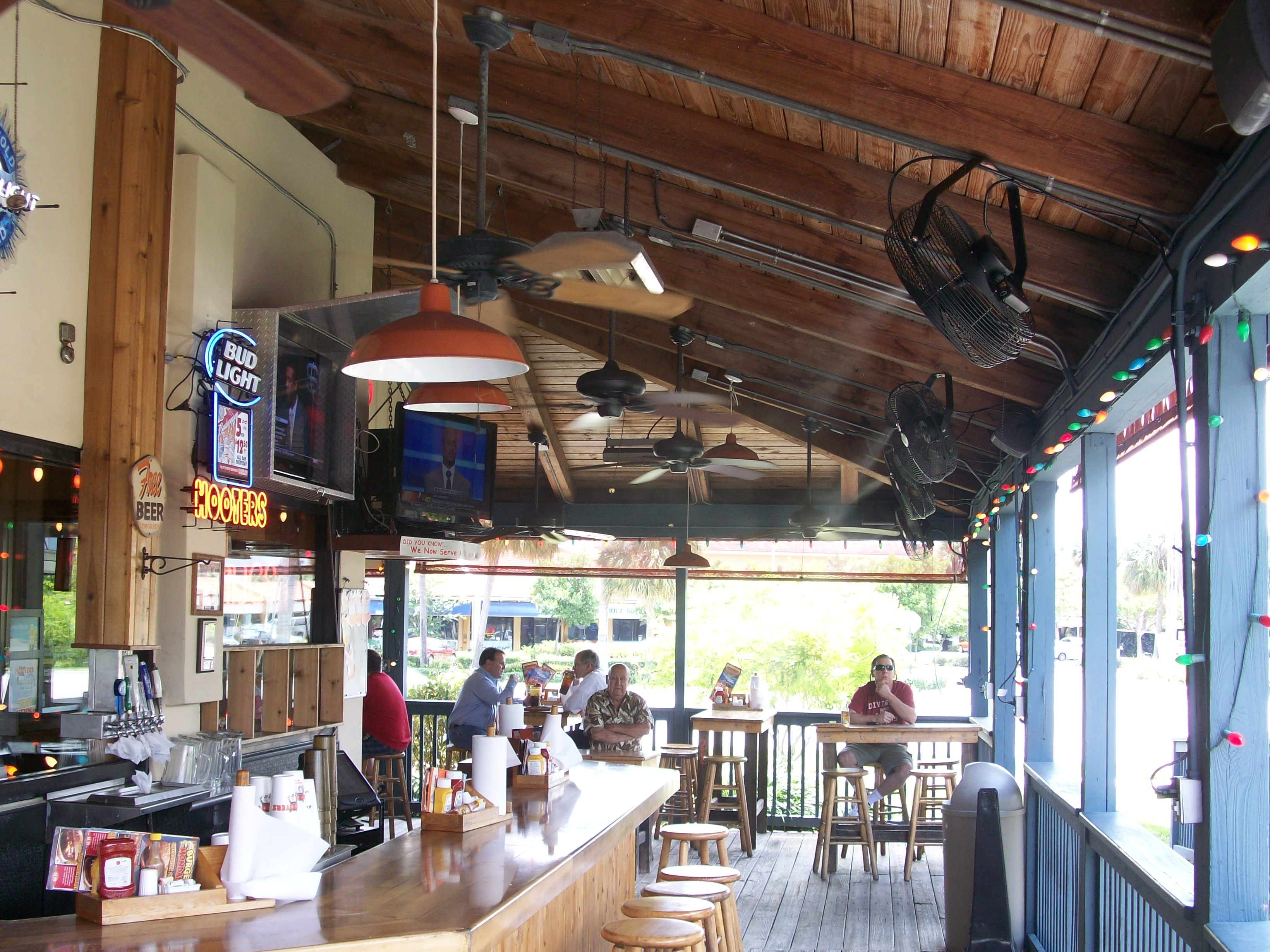 Hooters misting system by Outdoor Cooling Systems