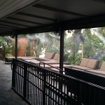 The misting system keeps customers cool year round at this south Florida restaurant.