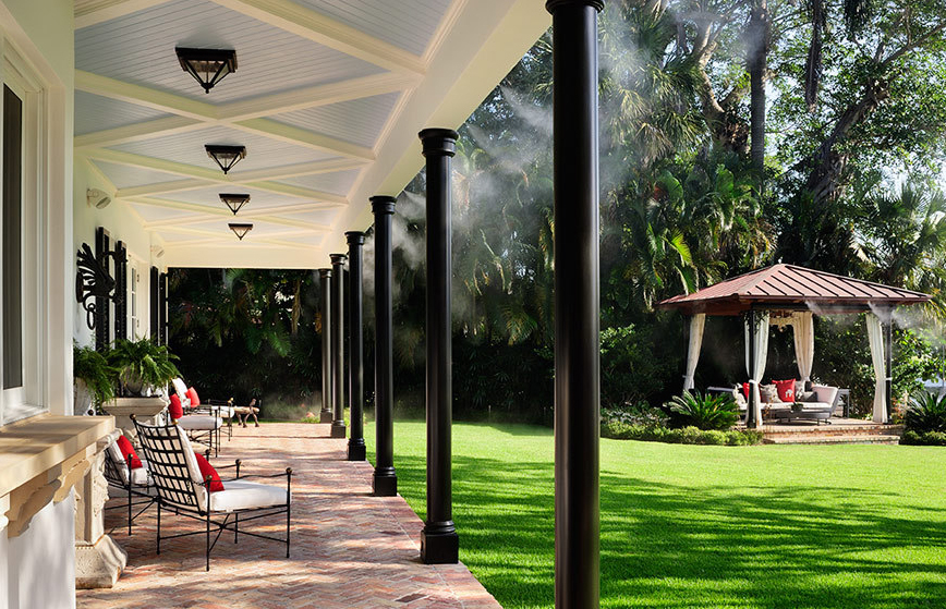 Outdoor Misting System : Outdoor cooling systems all about high pressure
