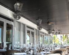 restaurant outdoor dining water misting mist fans