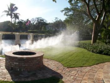 misting system installed by Outdoor Cooling Systems